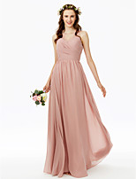 2017 LAN TING BRIDE Floor-length V-neck Bridesmaid Dress - Beautiful Back Elegant Sleeveless Chiffon