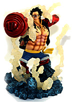 Anime Toimintahahmot Innoittamana One Piece Monkey D. Luffy PVC 19 CM Malli lelut Doll Toy