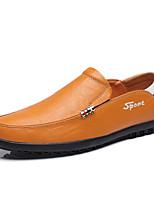 Homme Mocassins et Chaussons+D6148 Chaussures formelles Cuir Eté Automne Bureau & Travail Décontracté Soirée & Evénement Noir Jaune Marron