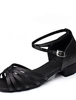 Women's Modern Satin Flats Practice Low Heel Blue Black Under 1