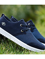 Men's Sneakers Comfort Breathable Mesh Tulle Spring Casual Navy Blue Dark Brown Khaki Flat