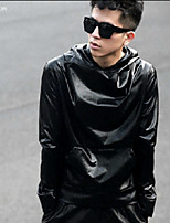 Men's Daily Sweatshirt Solid Round Neck strenchy Silk Long Sleeve Spring, Fall, Winter, Summer