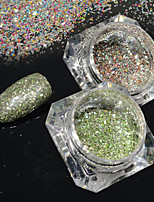 2bottles/set 0.2g/bottle Fashion Galaxy Starry Effect Nail Art Platinum Glitter Power Gorgeous DIY Shining Decoration BG21&22