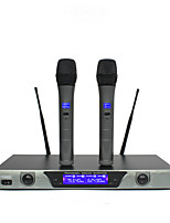 Professional Wireless System With Dual Handheld Wireless Microphone Stage Karaoke