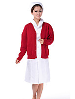 Women's Work Simple Hoodie Skirt Suits,Solid Round Neck Long Sleeve