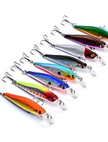 HiUmi Lot 8pcs Fishing Bait Classic Design Minnow Lures 8 colors Fishing lure 8.5cm 8.4g Fishing Tackle