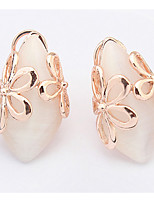 Euramerican  Fashion Elegant  Personalized  Opal  Flower Earrings Women's Business Statement Jewelry