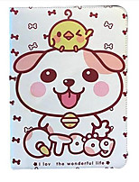 Pour apple ipad (2017) air 2 housse avec support flip pattern plein corps étui dog cartoon hard pu cuir air mini 4/3 2 1 ipad2 3 4