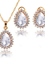Jewelry Set Pendant Necklaces Bridal Jewelry Sets AAA Cubic Zirconia Euramerican Fashion Classic Cubic Zirconia Rhinestone Zinc Alloy Drop
