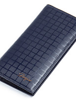 Mens Wallets Genuine Leather Bifold cowhide Male Clutch Purses Long Card Holder  D6017-1