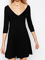 Women's Plus Size A Line Dress,Solid V Neck Maxi Sleeveless Silk All Seasons High Rise Inelastic Thin