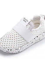 Girls' Sneakers First Walkers PU Spring Fall Casual First Walkers Magic Tape Flat Heel Black White Flat