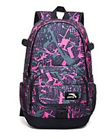 Unisex Backpack Oxford Cloth All Seasons Casual Bucket Metallic Zipper Deep Blue Blushing Pink Ruby Blue