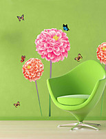 Wall Stickers Wall Decas Style Ball-flower Butterfly PVC Wall Stickers