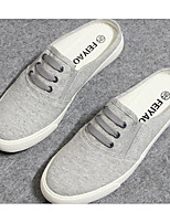 Women's Flats Comfort Couple Shoes Canvas Spring Casual Gray Black White Flat