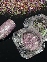 2bottles/set 0.2g/bottle Fashion Gorgeous Galaxy Starry Effect Nail Art Platinum Glitter Power DIY Shining Decoration BG02&04