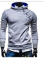 Men's Casual Hoodie Solid Hooded Micro-elastic Cotton Long Sleeve Summer Winter