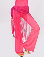 Belly Dance Hip Scarves Women's Performance Polyester Tassel 1 Piece Hip Scarf