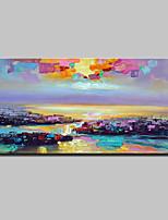 Ручная роспись Абстрактные пейзажи Горизонтальная,Modern Европейский стиль 1 панель Холст Hang-роспись маслом For Украшение дома
