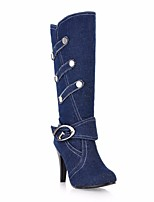 Women's Boots Comfort Canvas Spring Casual Blue Dark Blue Black Flat