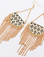 Euramerican Fashion Personalized  Luxury  Semicircle Tassel Earrings Lady Party Statement Jewelry