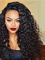 360 Lace Frontal Wigs with Baby Hair 180% Density Brazilian Virgin Hair Natural Color 360 Lace Wigs with Natural Hairline Hot Curly Hair No Shedding
