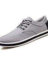 Men's Sneakers Ankle Strap Canvas Summer Fall Casual Gray Dark Blue Black 1in-1 3/4in