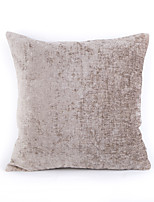Chenille Pillow Case- Light Grey