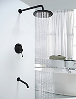 Antique Round Wall Mounted  Multifunction with  Ceramic ValveOil-rubbed Bronze  Shower Faucet