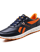 Men's Sneakers Ankle Strap Leather Summer Fall Casual Dark Blue Black White 1in-1 3/4in