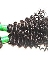 8A Indian Deep Wave Vigin Hair 3Bundles 300g Lot Unprocessed Indian Human Hair Extensions Weaves Natural Black Color