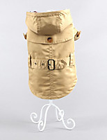 Dog Coat Dog Clothes Casual/Daily Keep Warm British Khaki Jade