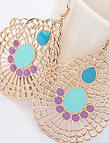 Drop Earrings Women's Euramerican Sweet Bohemian Earrings Droplets Alloy Hollow out Drop Earrings Party Casual Statement Gift Jewelry