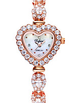 Women's Fashion Watch Quartz Alloy Band Heart shape Rose Gold