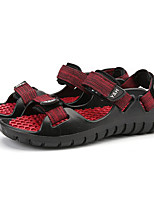 Men's Sandals Comfort Fabric Spring Casual Black Brown Ruby Flat