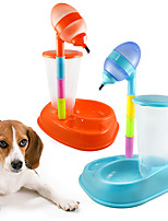 Creative Fashion Rainbow Vertical  Adjustable Bamboo Pet Cat Dog Automatic Water Bottle Pet Supplies Dog Bowls Dog Water Bottle