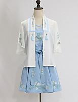 Инвентарь Японский стиль Винтажная коллекция Косплей Платья Лолиты Винтаж С короткими рукавами Короткие / Мини Для