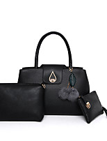 Women Bag Sets Other Leather Type All Seasons Casual Shell Flower Zipper Beige Black Gold Blue