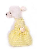 Robe Vêtements pour Chien Mignon Anniversaire Mode Princesse Jaune Rose Bleu clair