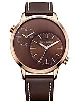 Муж. Нарядные часы Модные часы Повседневные часы Кварцевый Натуральная кожа Группа Черный Коричневый