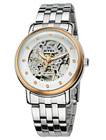 Men's Skeleton Watch Fashion Watch Mechanical Watch Automatic self-winding Stainless Steel Band Silver Gold
