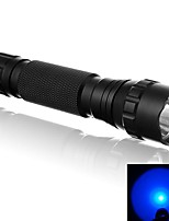 WF-501B 500 Lumens 1 Mode Blue Light Lighting LED Flashlight Signal Lamp with Tail Pressure Switch