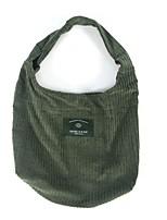 Mulher Bolsa de Ombro Camurça Todas as Estações Casual Shopper Magnético Preto Verde Escuro Caqui
