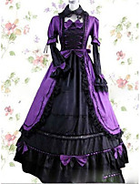 One-Piece/Dress Gothic Lolita Lolita Cosplay Lolita Dress Vintage Cap Short Sleeve Floor-length Dress For Other