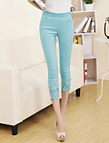 Women's Thin Lace Solid Color Legging,Solid