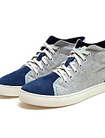 Men's Sneakers Comfort Suede Spring Casual Gray Blue Flat