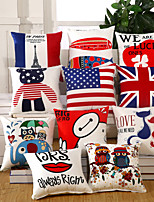 Creative National Flag Pillow Case 9 Design Cotton/Linen Pillow Covers