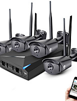 JOOAN® 4CH Wireless NVR Kit 1080P Outdoor Night Vision 2.0mp IP Camera WIFI Surveillance CCTV System