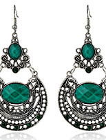 Drop Earrings Women's Girls' Bohemian Elegant Alloy Round Rhinestone Earrings Movie Party Daily Casual Jewelry