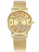 XU Neutral Quartz Alloy Mesh Belt Contracted Heart-shape Dress Watch